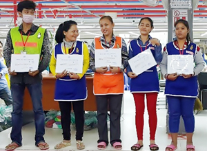 Sae-A Cambodia held the 2014 regular attendance awards